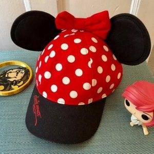 Disney Parks Youth Minnie Cap with Red Bow